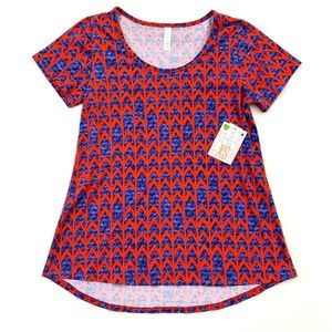 LuLaRoe Red with Blue Arrows Classic Tee